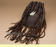 "Leather Navajo Tobacco Medicine Pouch 9"" -Brown  (b48)"