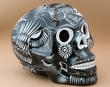 """Mexican Day Of The Dead Skull 6.5"""" -Black  (p293)"""