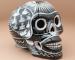 "Mexican Day Of The Dead Skull 6.5"" -Black  (p293)"