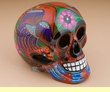 "Mexican Day Of The Dead Skull 6.5"" -orange (s3)"