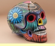 "Mexican Day Of The Dead Skull 6.5""  (s3)"