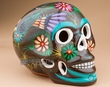"Mexican Day Of The Dead Skull 6.5"" -brown (s3)"