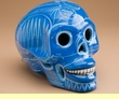 """Mexican Day Of The Dead Skull 6.5"""" Blue  (s7)"""