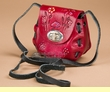 Mini Hand Stitched Leather Purse -Red  (p452)