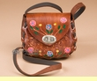 Mini Hand Stitched Tooled Leather Bag -Brown (p461)