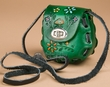 Mini Tooled Leather Purse -Green  (p453)