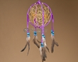 "Native American 3D Navajo Dream Catcher 6"" -Purple  (6-33)"
