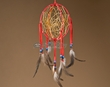 "Native American 3D Navajo Dream Catcher 6"" -Red  (6-32)"