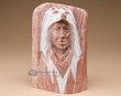 Native American Alabaster Carving -Medicine Man  (ra24)