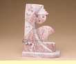 Native American Alabaster Carving -Sun Face  (ra25)