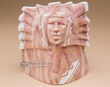 Native American Alabaster Carving -Chief  (ra26)
