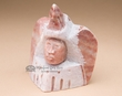 Native American Alabaster Carving -Medicine Man  (ra31)
