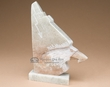 Native American Alabaster Carving - Wolf & Eagle  (ra32)