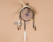 "Native American Antler Dreamcatcher 6"" -Blue  (dc6-57)"