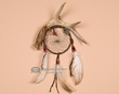 Native American Antler Dreamcatcher -Black  (dc4-15)