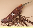 "Native American Antler Knife & Sheath 14.5"" -Left Handed  (k40)"