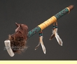 "Native American Antler Peace Pipe 19"" - Wolf"
