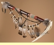 "Native American Antler Peace Pipe 21"" -Navajo   (p82)"