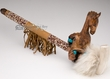 "Native American Beaded Antler Pipe 20"" - Horse (p78)"