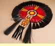 "Native American Beaded Horse Hair Dance Bustle 16""x23"" -Navajo  (b1)"