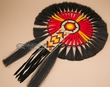 "Native American Beaded Horse Hair Dance Bustle 16""x23"" -Navajo  (h1)"