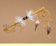 "Native American Beaded Medicine Talking Stick 12""  (TS12)"