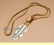 Native American Bone Necklace -Orange  (116)