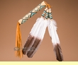 Native American Beaded Peyote Fan -Navajo  (f15)