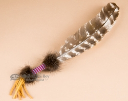 Native American Beaded Smudging feather  (f28)