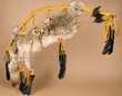 "Native American Bow & Coyote Quiver 44"" -Gold (B76)"