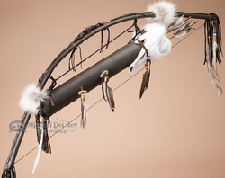 Native American Bow & Quiver Set -Arctic Fox  (b4)
