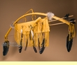 "Native American Bow, Quiver & Knife Set 40"" -Gold (B39)"