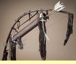 Native American Bow & Quiver Set -Chocolate  (b4)
