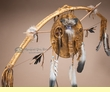 "Native American Bow & Tomahawk Shield Set 44"" -Navajo"