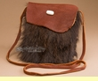 "Native American Buffalo Hide Medicine Bag 7.5"" -Sioux  (b115)"