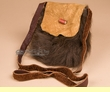 "Native American Buffalo Hide Medicine Bag 6x7"" -Sioux  (b113)"