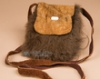 "Native American Buffalo Hide Medicine Bag 6x7"" -Sioux  (b114)"
