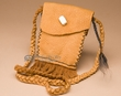 "Native American Buffalo Hide Medicine Bag 6"" -Sioux  (b111)"
