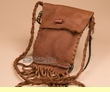 "Native American Buffalo Hide Medicine Bag 7"" -Sioux  (b111)"