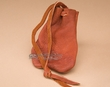 "Native American Buffalo Hide Medicine Pouch 5"" -Sioux  (b107)"