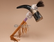"Native American Cherokee Horn Rattle 18""  (50)"