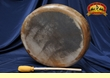 "Native American Cottonwood Elk Hand Drum 12"" -Taos (9)"