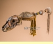 "Native American Coyote Medicine Rattle 27"" -Apache  (r152)"