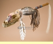 "Native American Coyote Medicine Rattle 28"" -Apache  (r152)"