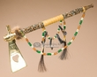 "Native American Creek Indian Beaded Tomahawk Pipe 18""  (p89)"