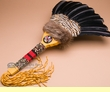 "Native American Creek Indian Dance Fan 23""  (f81)"