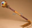 "Native American Creek Indian Gourd Rattle 18"" (126)"