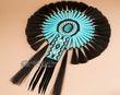 Native American Dance Bustle 16x23 -Turquoise Stone  (b8)