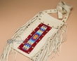 "Native American Deer Skin Medicine Bag 15""  (b18)"