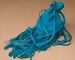 Native American Deer Skin Medicine Pouch -Turquoise  (100)